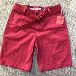 Men's red shorts size 32